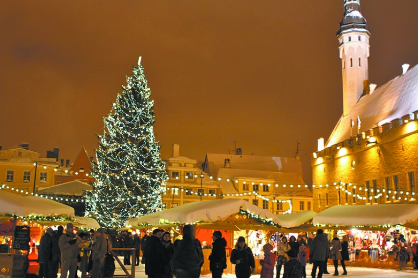 HOLIDAY MAGIC: Tallinn's magical town square.