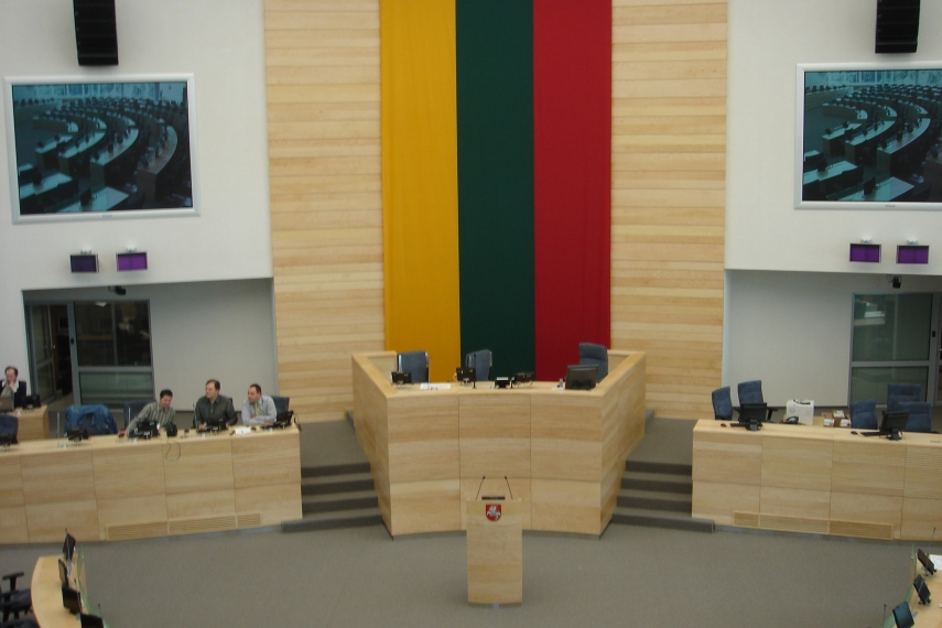 Inside the Seimas, Lithuania's parliament building in Vilnius. [Photo: Creative Commons]