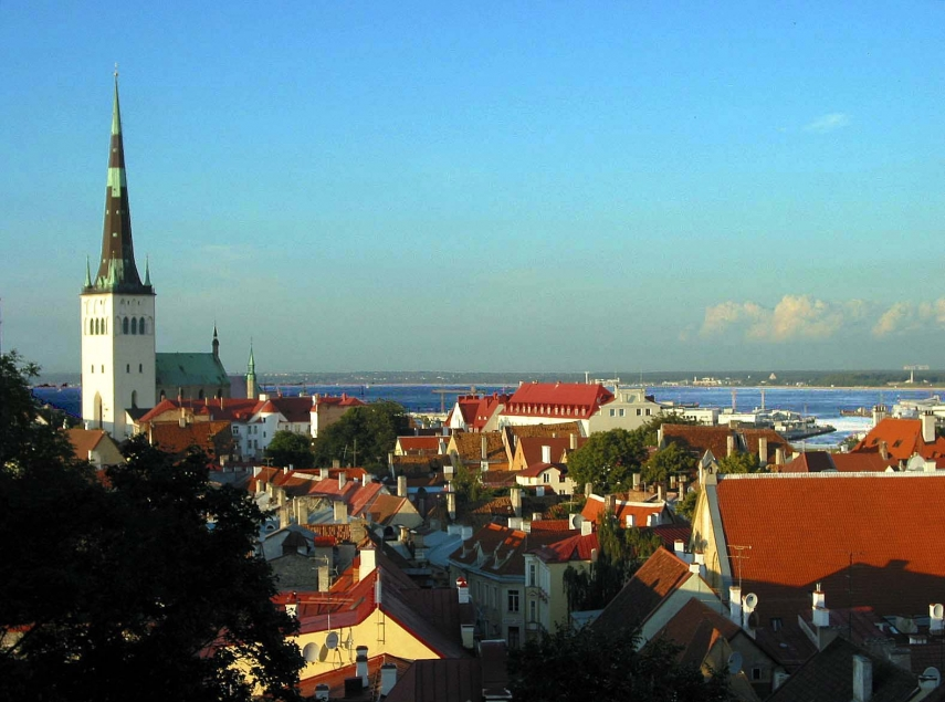 Tallinn, the capital of Estonia, is in Harju County, where the GDP is 42% above the Estonian average [Photo: Creative Commons]