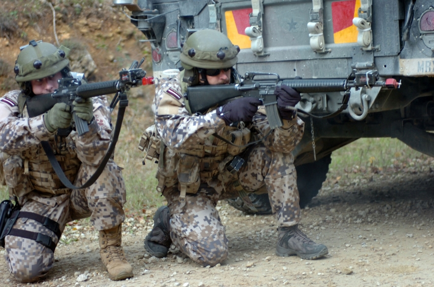 Latvian soldiers on training mission in Germany [Photo: Baltic Reports]