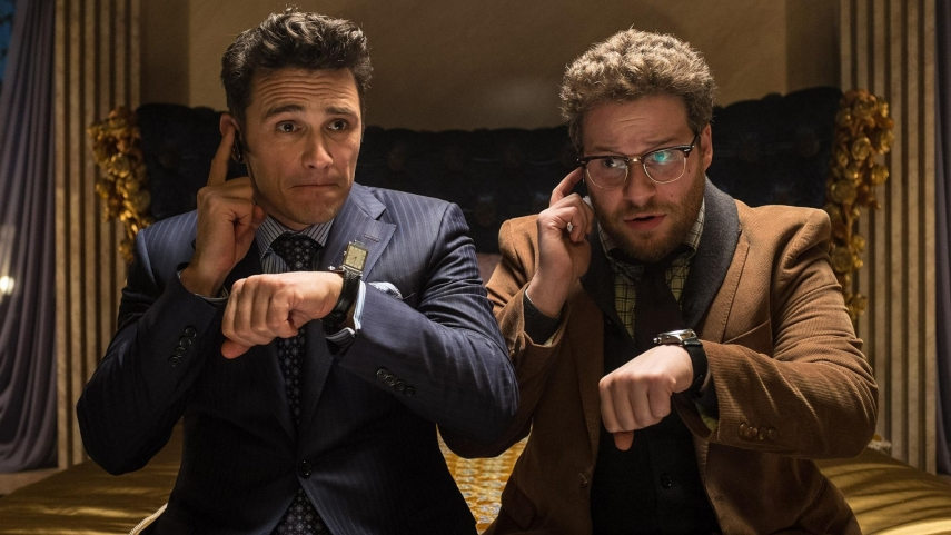 The Interview's stars James Franco and Seth Rogen in the film