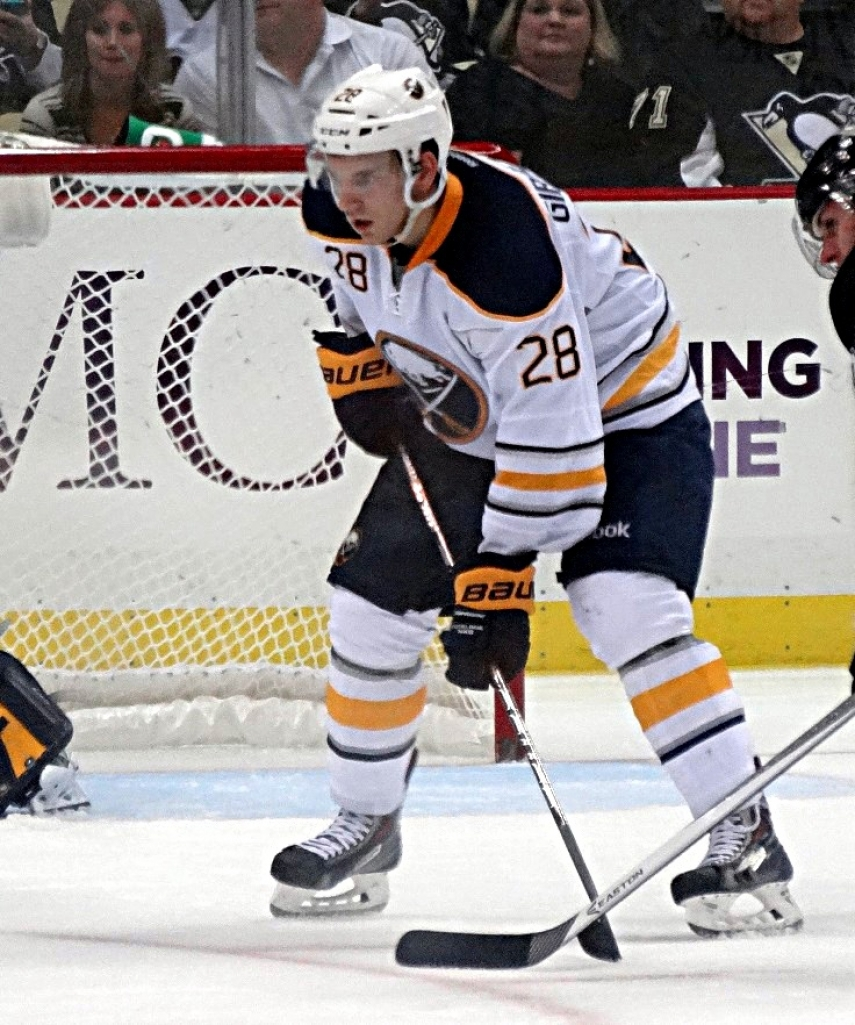 Zemgus Girgensons in action for the Buffalo Sabres [Photo: Creative Commons]