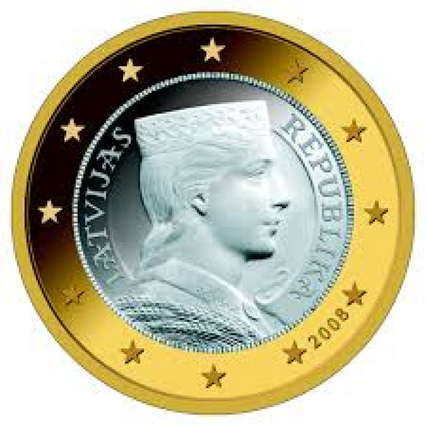 A Latvian one-euro coin [Image: Creative Commons]