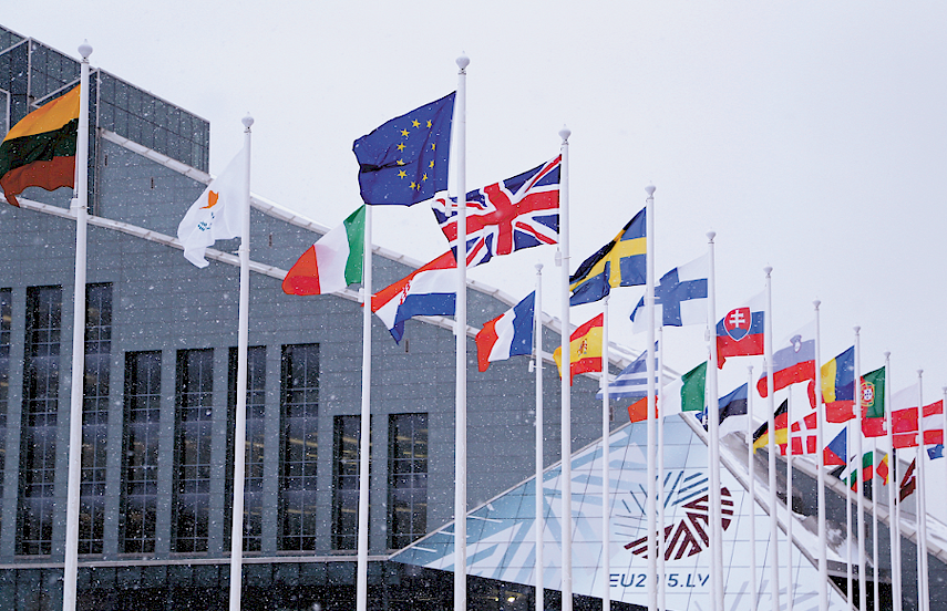 Flying the flag for the EU: Latvia to set Europe's agenda for next six months.