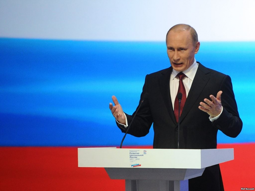 Vladimir Putin, President of Russia and leader of political party United Russia [Image: RFERL]