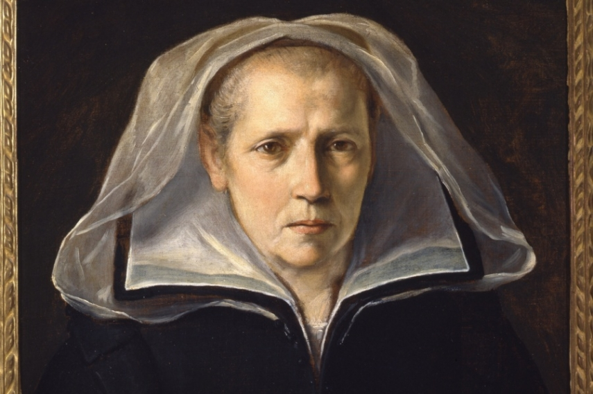 Photo of portrait of Mother Ginevra, a haunting image