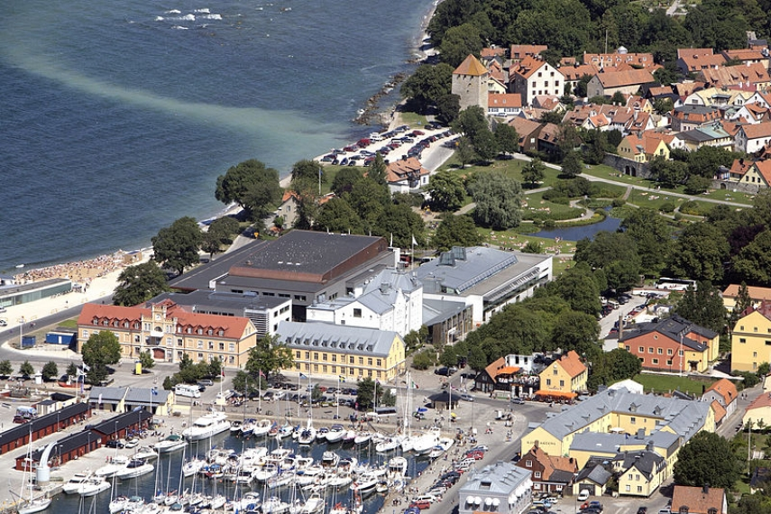 The harbour at Visby, Gotland's largest city [Image: Creative Commons]