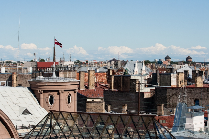 Rooftops in central Riga, Latvia's capital [Image: Creative Commons]