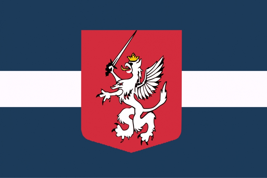 The unofficial flag of Latgale, created by Māris Rumaks