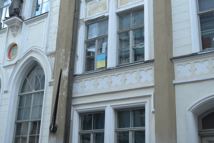 Opposite the Russian embassy in Tallinn [Image: Will Mawhood]