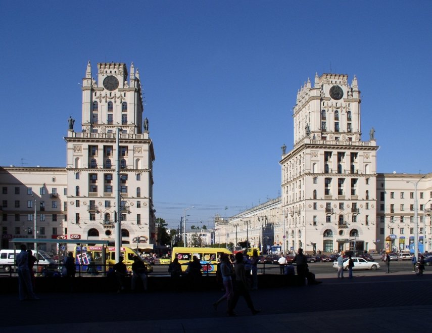 Central railway station in Minsk, Belarus's capital [Image: Creative Commons]