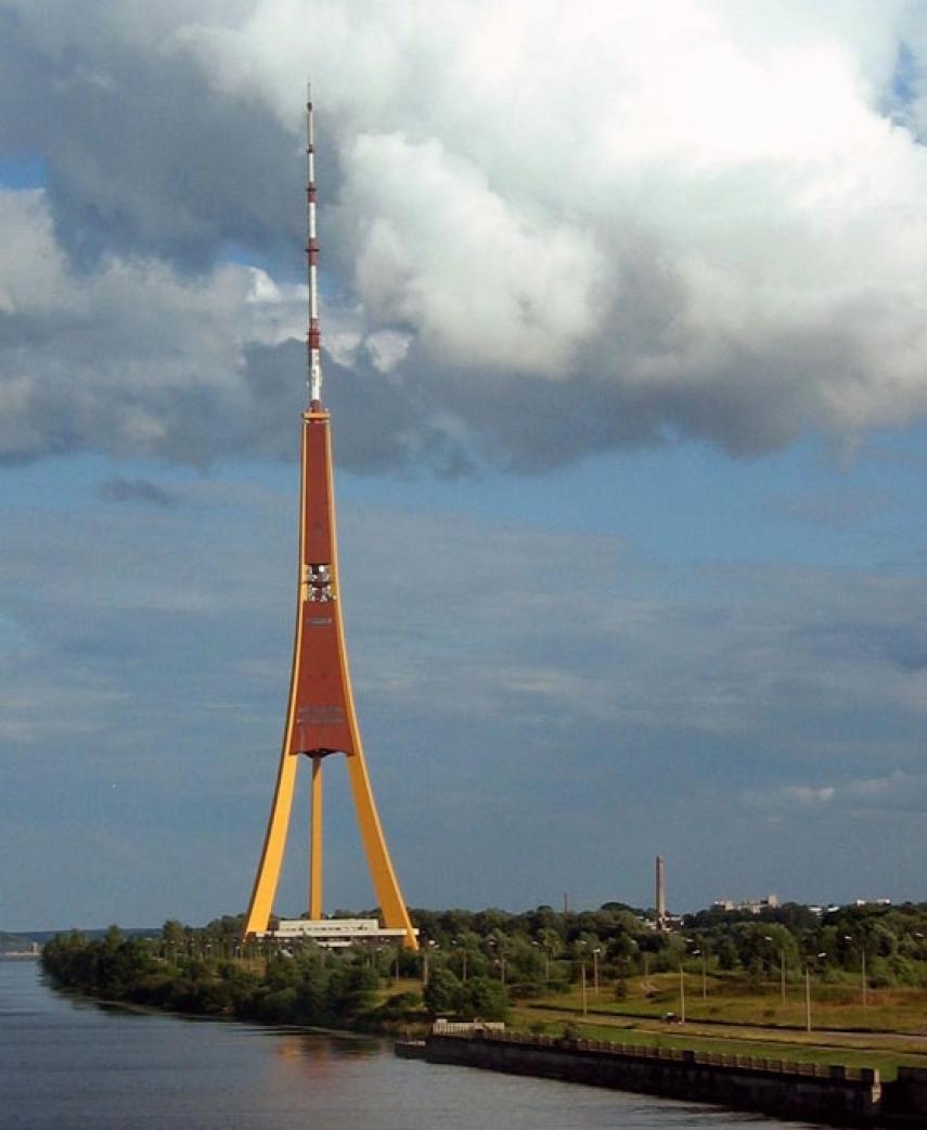 The TV tower in Riga, Latvia's capital [Image: radiomap.eu]