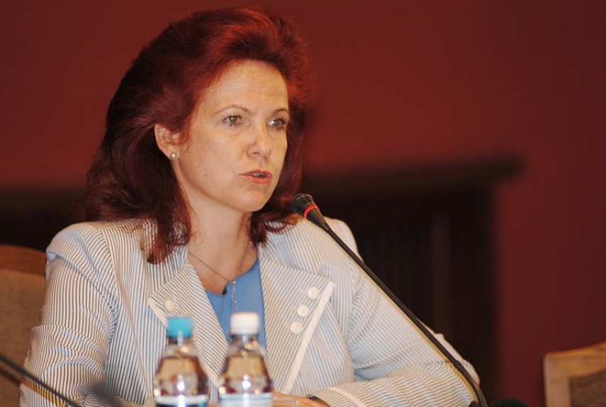 Solvita Āboltiņa, chair of the Latvian Parliament's security committee [Image: Creative Commons]