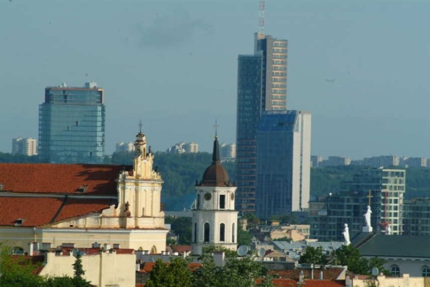 Looking towards the central business district from Vilnius Old Town [Image: estonianholidays]