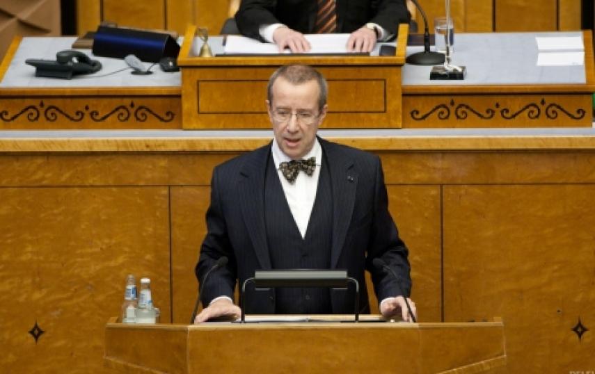 President Ilves addresses the Riigikogu [president.ee]