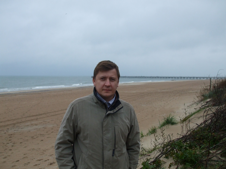 EVER THE GEOGRAPHER: Donatas Burnieka is one of Lithuania's foremost experts on emigration