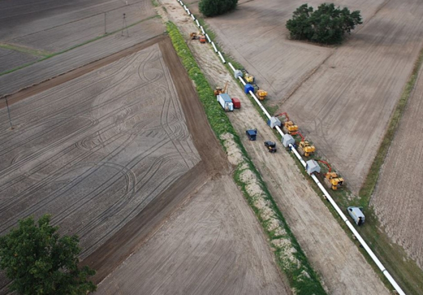 Construction work on the gas pipeline between Poland and Lithuania [Image: lngworldnews.com]