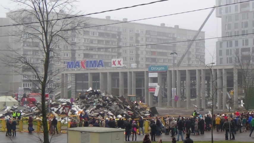 The Maxima supermarket in Zolitude after its collapse in November 2013 [Image: Creative Commons]