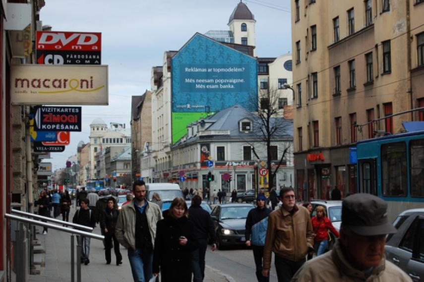 A street scene in Riga, Latvia's capital [Image: panoramio.com]