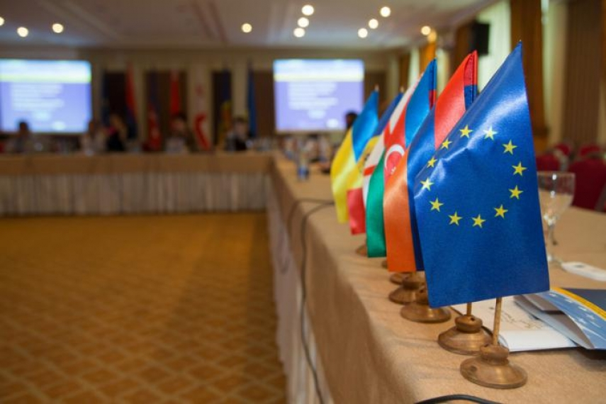 Flags of the countries participating in the Eastern Partnership initiative [Image: eapyouth.eu]