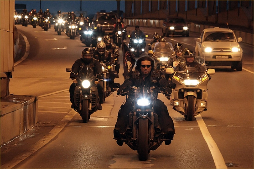 The Night Wolves biker gang [Image: Creative Commons]