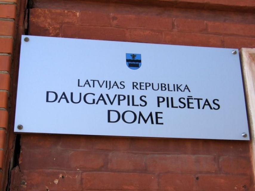 Sign of Daugavpils City Council [Image: daugavpilspilseta24.lv