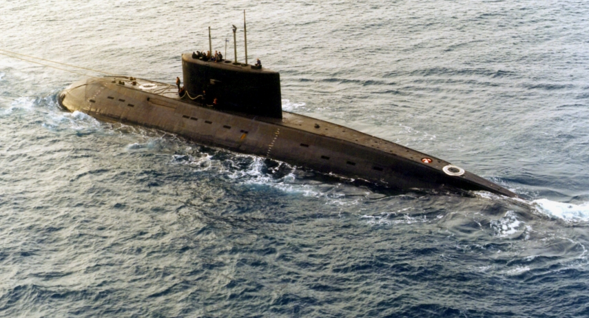 A Kilo class submarine like this one was detected on May 20 (Image: Wiki)