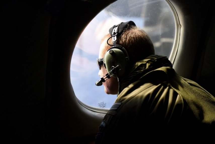 Lithuanian forces search for the missing aircraft in the Baltic Sea [Image: Reuters/Scanpix]