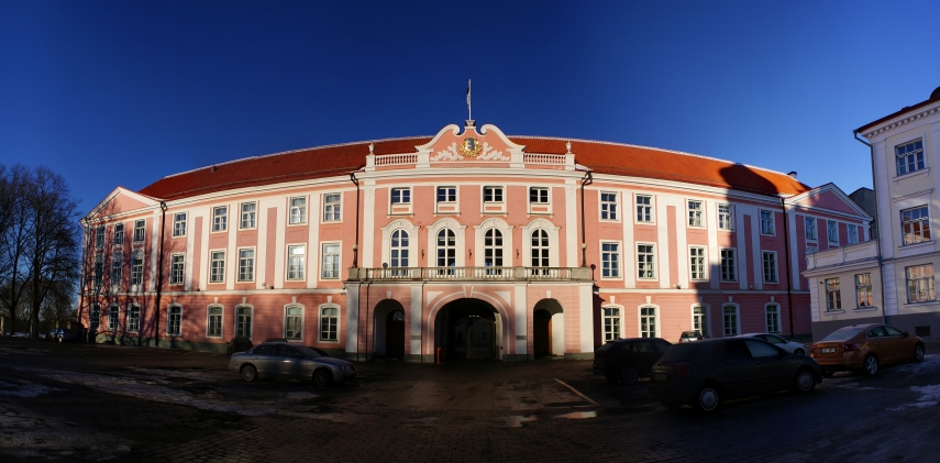 The Estonian parliament [Image: Wiki Commons]
