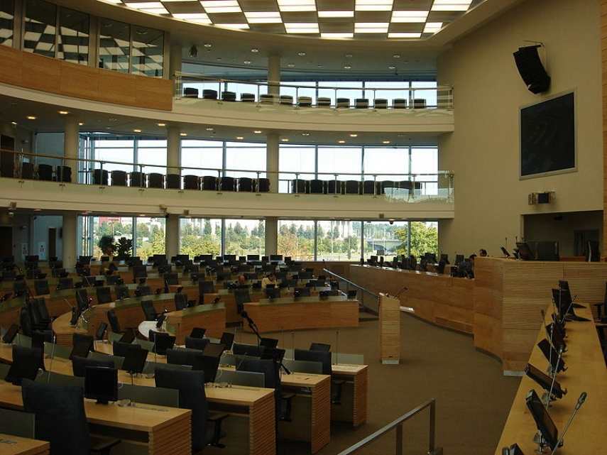 The Lithuanian Parliament where the vote on the amendments took place [Image: Creative Commons]