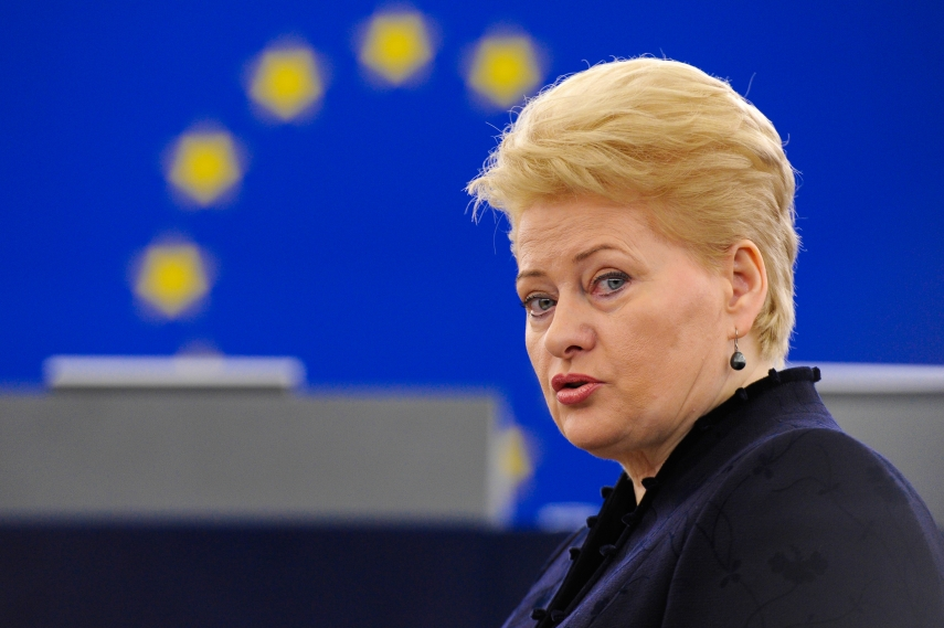 President Dalia Grybauskaite is the most trusted politician in Lithuania [Image: one-europe.info]