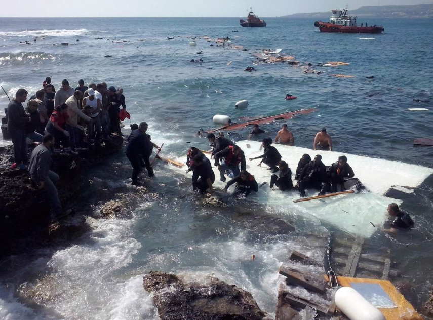 Refugees affected by the Mediterranean Crisis [Image: time.com]