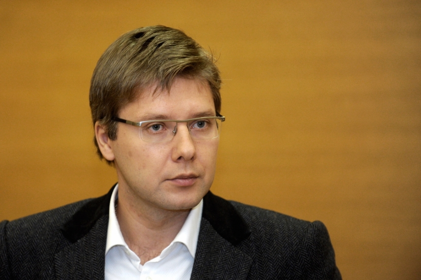 The Harmony party, headed by Nils Uzakovs, was the most popular political party in Latvia in June [Image: diena.lv]