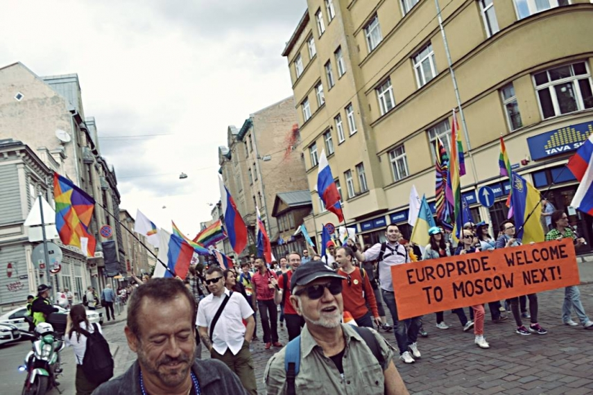ON THE MARCH: The first EuroPride in a formerly communist country took place in Riga on June 20.