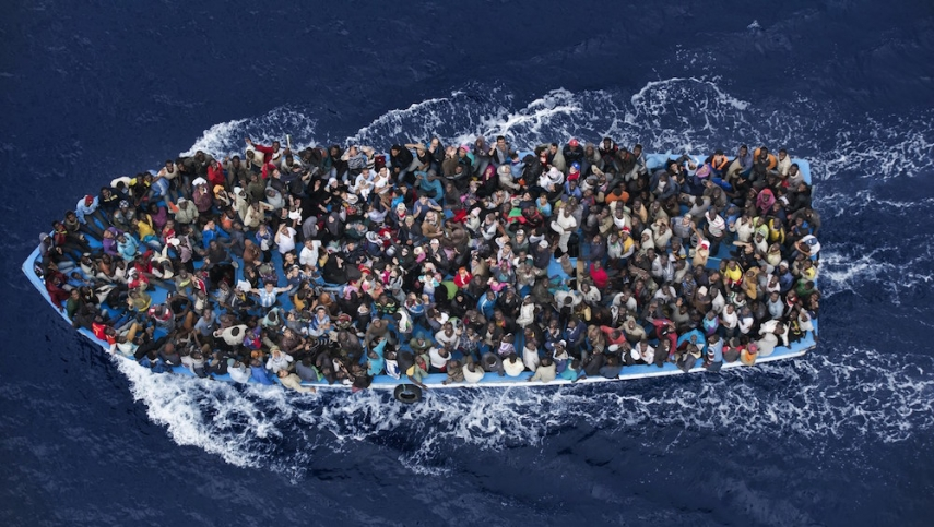 Refugees affected by the Mediterranean Crisis [Image: err.ee]