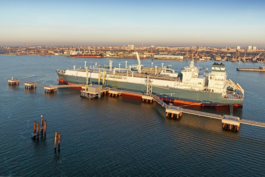 The LNG terminal in Klaipeda [Image: LNG world news]