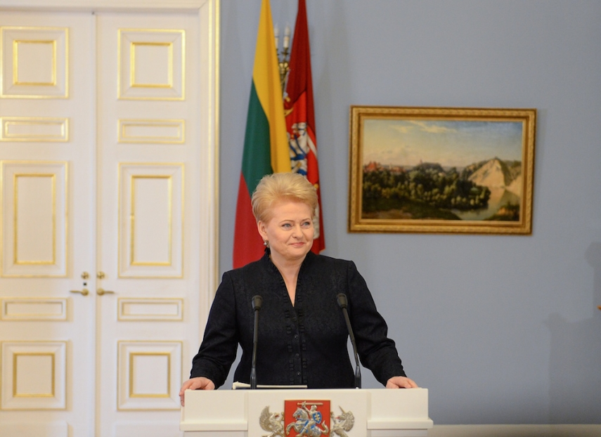 President Grybauskaite has called for a change in laws surrounding the regulation of service weapons [Image: fm99.lt]