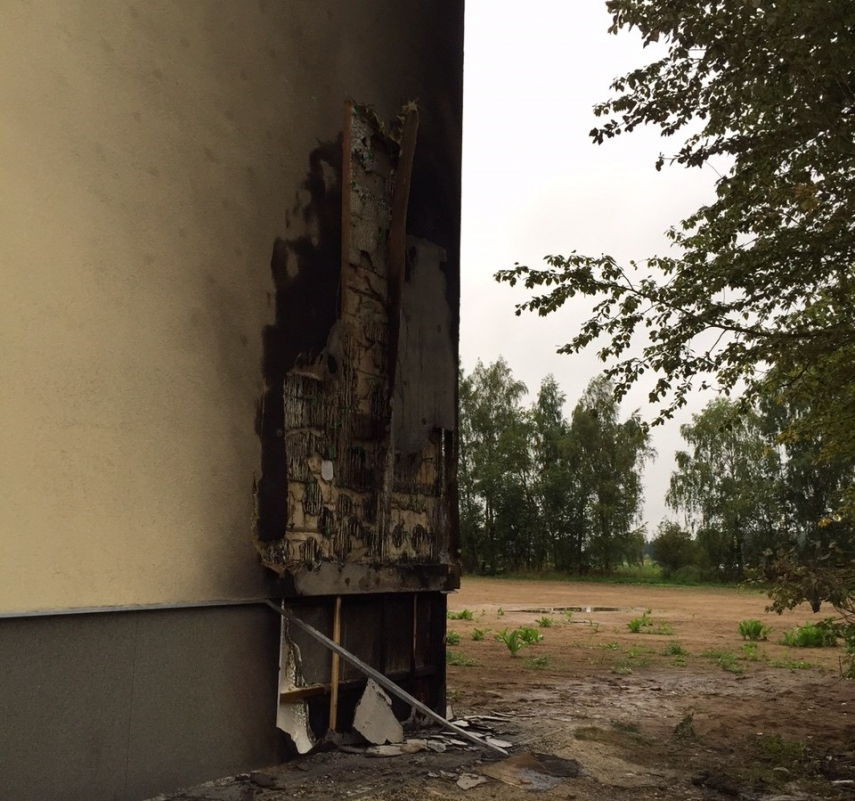 The immigration centre fire in Lääne-Viru County is being treated as arson [Image: Politsei.ee]