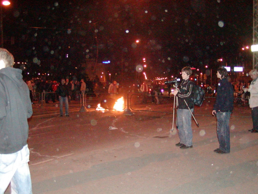 Bronze Night, 2007, where Dmitry Ganin was murdered [Image: Wikipedia]