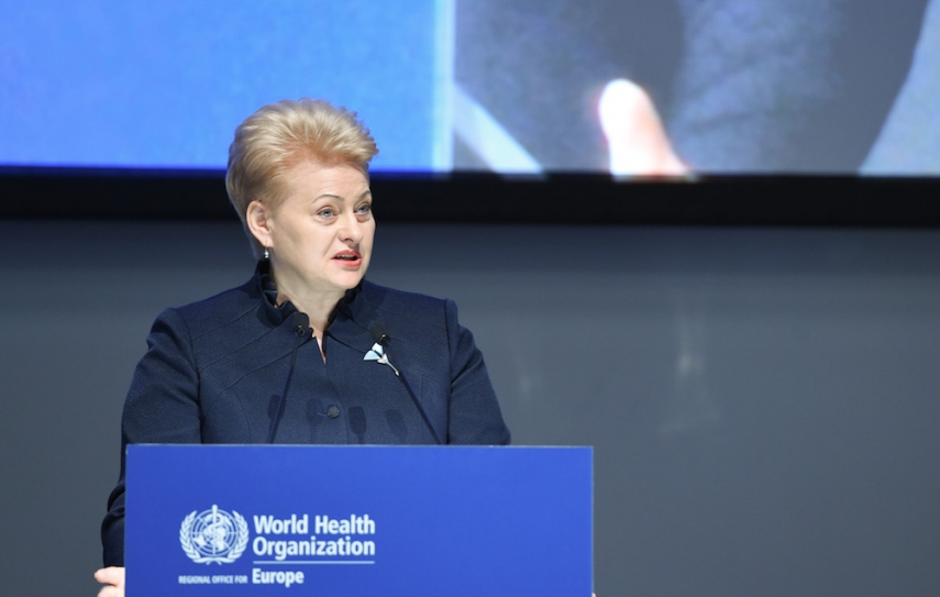 Grybauskaite has again hit out at Moscow [Image: LRP.lt]