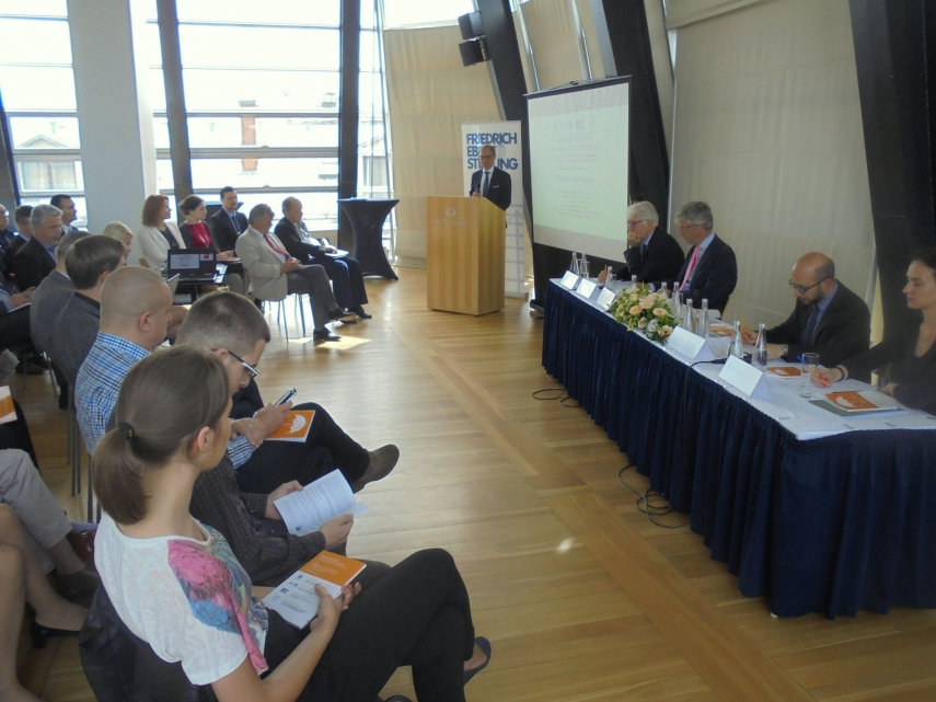 Audiences gather at the book launch in Riga [Image: European Security Facebook]
