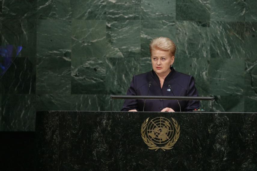 President Grybauskaite at the UN [Image: LRP.lt/Robertas Dačkus]