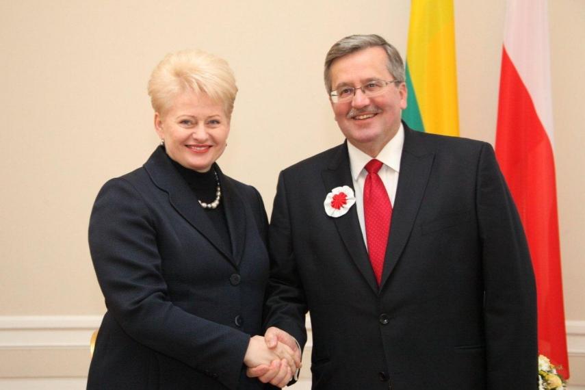 Grybauskaite with Komorowski in 2011 [Image: LRP.lt]
