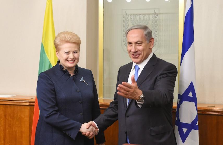 Image result for netanyahu lietuva