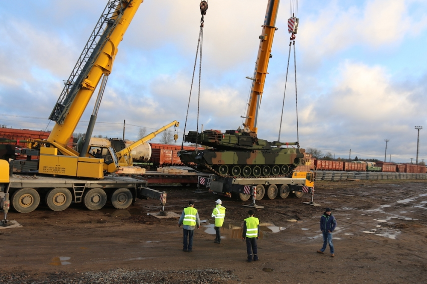 Military hardware has arrived in Estonia