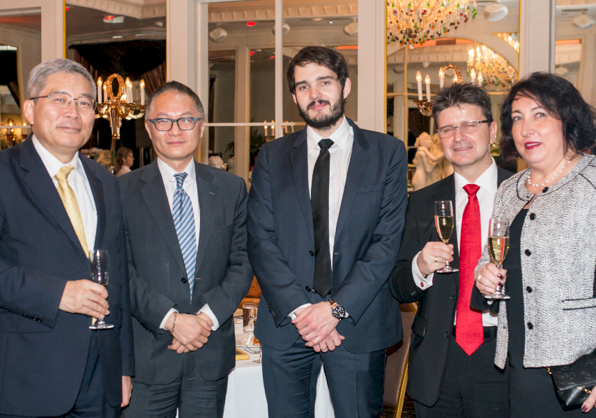 DIGNITARIES: (from left to right) Charge d'Affaires of Embassy of Japan Mr Naotaka Sakaguchi, Representative of Taipei mission Chung-Yung Keng, CEO of Fondy.eu Vladimirs Remi, Member of the Council of Latvijas Gaze Mario Nullmeier, and Reni Nullmeier.