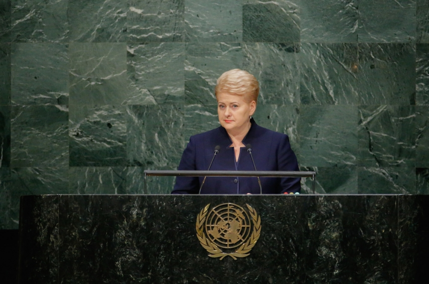 Lithuania at the UN [Image: LRP.lt]