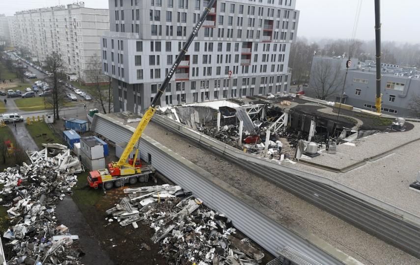 The site of the Riga roof collapse [Image: pressherald.com]