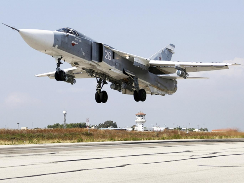 A Sukhoi SU-24 fighter plane of the Russian Air Force [Image: The Independent]