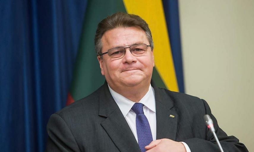 Lithuanian FoMin, Linas Linkevicius [Image: vz.lt]